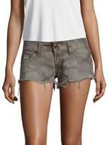 True Religion Camo-Print Cotton Shorts