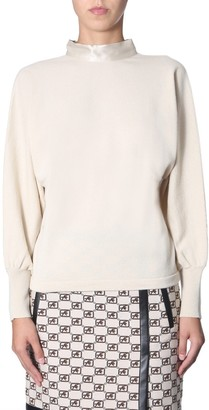 Alberta Ferretti High Neck Knitted Sweater
