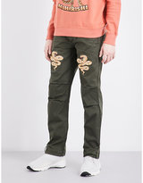 Maharishi Snake-embroidered Relaxed-fit Cotton Trousers