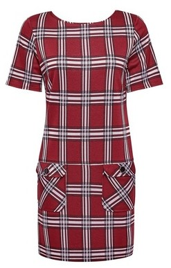 Dorothy Perkins Womens Red Check Tunic Top, Red