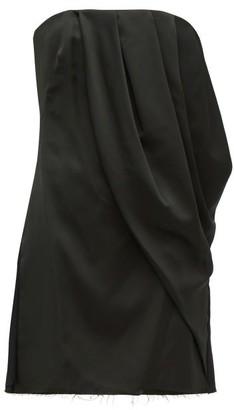 Marina Moscone - Draped Satin Bustier Top - Womens - Black