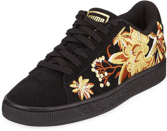 Puma Suede Hyper Embroidered Sneakers