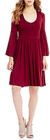 Gibson & Latimer Bell Sleeve Knit Dress