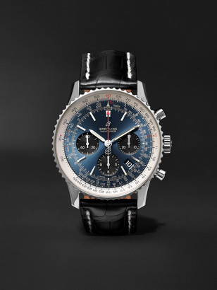 Breitling Navitimer 1 B01 Automatic Chronometer 43mm Stainless Steel And Alligator Watch, Ref. No. Ab0121211c1p1