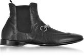 Cesare Paciotti Black Buffalo Leather Boots