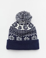 French Connection Fairisle Beanie Hat