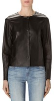 J Brand Women's Cecelia Collarless Leather Jacket