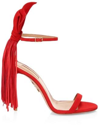 Aquazzura Whip-It Fringe Suede Sandals