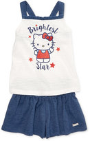 Hello Kitty 2-Pc. Graphic-Print Tank Top & Shorts Set, Toddler & Little Girls (2T-6X)