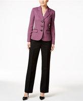 Le Suit Three-Button Colorblocked Pantsuit