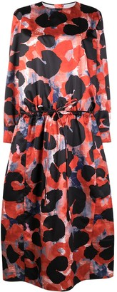 Marni Abstract Animalier-print chintz dress