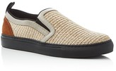 MSGM Woven Straw Slip On Sneakers