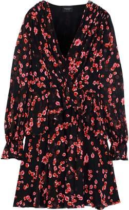 Giambattista Valli Wrap-effect Floral-print Silk-chiffon Peplum Mini Dress