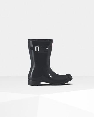 Hunter Women's Original Tour Foldable Short Gloss Wellington Boots