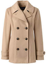 Lands' End Women's Insulated Wool Peacoat-Soft Camel