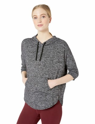 Calvin Klein Women's 3/4 Sleeve Crossover Hoodie Pullover