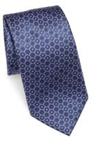 Corneliani Geometric Pattern Silk Tie