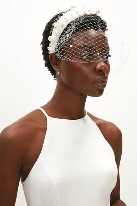 Coast Netted Fascinator Headband With Beaded Detail