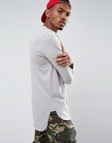 Asos Super Longline Long Sleeve T-Shirt With Side Split