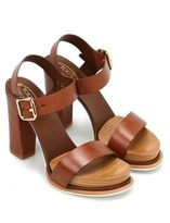 Tod's 18a Leather Platform Sandals