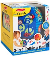 Melissa & Doug Kids' 2-in-1 Talking Ball