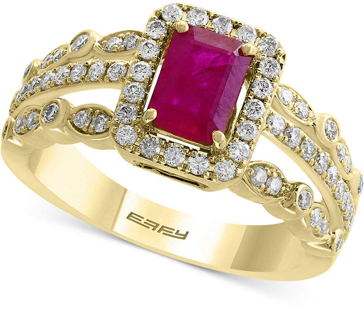 Effy Amore by Certified Ruby (1 ct. t.w.) and Diamond (1/2 ct. t.w.) Ring in 14k Gold, Created for Macy's