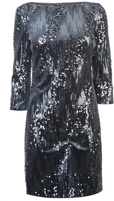 Eliza J Velvet sequin shift dress