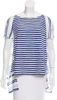 Christian Wijnants Striped Silk Top