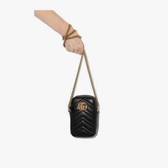 Gucci black Marmont leather cross body bag