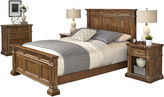 Asstd National Brand Sherman Bed, 2 Nightstands and Chest