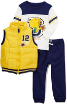 Kids Headquarters Yellow '12' Quilted Vest Set - Infant Toddler & Boys