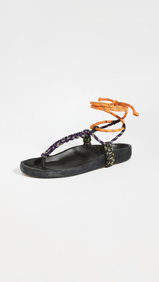 Isabel Marant Loreco Flat Thong Technic Sandals