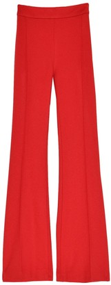 Rosetta Getty Pull On Cropped Flare Pant in Rouge