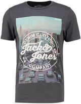Jack & Jones Jortop Slim Fit Print Tshirt Asphalt