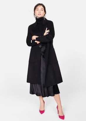 MANGO Violeta BY Handmade wool coat burnt orange - XS - Plus sizes