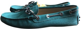 Tod's Gommino Turquoise Suede Flats