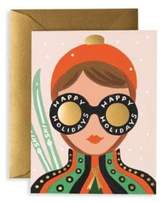 Rifle Paper Co. Set of Eight Ski Girl Greeting Cards