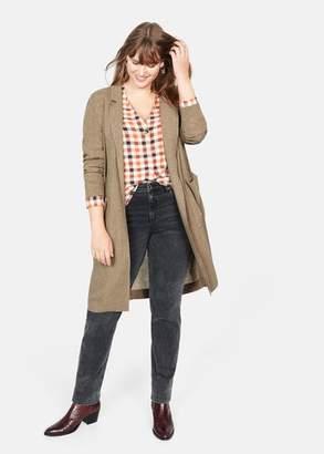 MANGO Violeta BY Unstructured wool blazer medium brown - M - Plus sizes