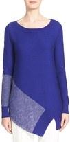 St. John Women's Stripe Links Knit Asymmetrical Sweater