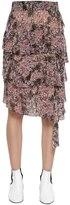 Etoile Isabel Marant Floral Camouflage Chiffon Skirt