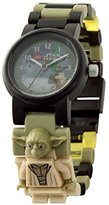 Lego Star Wars The Last Jedi Yoda Kids Minifigure Link Buildable Watch | green/black| plastic | 28mm case diameter| analogue quartz | boy girl | official