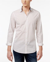 Michael Kors Men's Finn Slim-Fit Shadowed Square Cotton Shirt, Only at Macy's