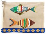 Sam Edelman Ariel Embellished Fish Wristlet Clutch