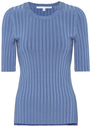 Veronica Beard Dillon ribbed-knit sweater