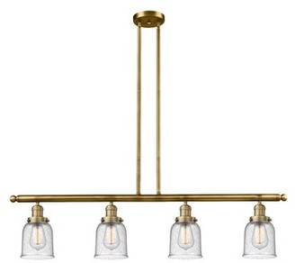 17 Stories Aloysia 4 - Light Kitchen Island Linear Pendant Finish: Brushed Brass