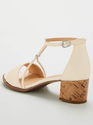 Wallis Strudel Block Heel Sandals - Cream