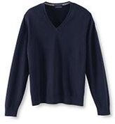 Classic Men's Supima Cotton V-neck Sweater-True Blue