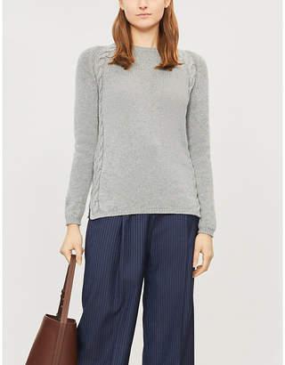 Max Mara S Giotpi cable-knit trim cashmere jumper