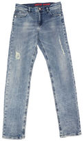 Guess Boy's Dirty Wash Skinny Distressed Jeans