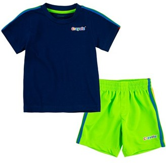 Crayola Boys T-Shirt & Shorts, 2-Piece Outfit Set, Sizes 4-7